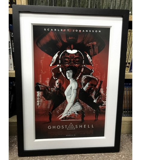 PÓSTER ENMARCARDO GHOST IN THE SHELL B&R (INCLUYE PASPARTÚ)