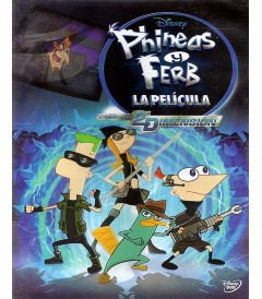 DVD - PHINEAS Y FERB (LA PELÍCULA) A TRAVÉS DE LA SEGUNDA DIMENSIÓN - USADA