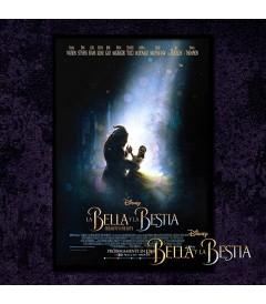 PÓSTER LA BELLA Y LA BESTIA (VERSIÓN 2) (ENMARCADO)