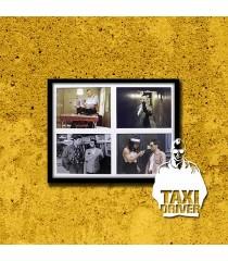 PÓSTER TAXI DRIVER (VERSIÓN 2) (ENMARCADO INCLUYE PASPARTÚ)