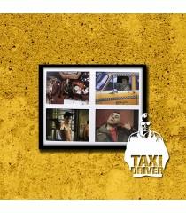 PÓSTER TAXI DRIVER (VERSIÓN 3) (ENMARCADO INCLUYE PASPARTÚ)