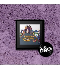 PÓSTER THE BEATLES (YELLOW SUBMARINE) (ENMARCADO INCLUYE PASPARTÚ)