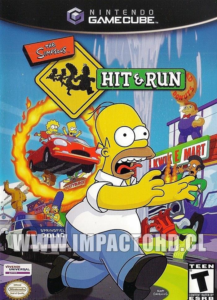 NINTENDO GAMECUBE - THE SIMPSONS (HIT & RUN) - USADO