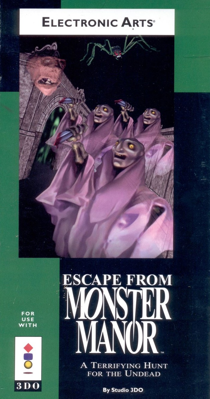 3DO - ESCAPE FROM MONSTER MANOR - USADO