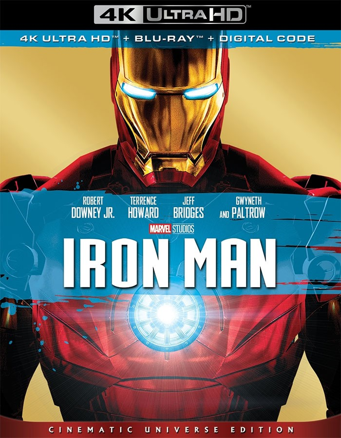 4K UHD - IRON MAN (EDICIÓN UNIVERSO CINEMATOGRÁFICO) (MCU)