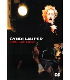DVD - CYNDI LAUPER LIVE AT LAST - USADO