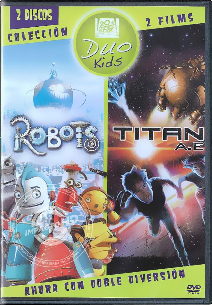 DVD - DUO KIDS (ROBOTS / TITAN A.E.) - USADA