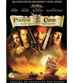 DVD - PIRATAS DEL CARIBE (LA MALDICIÓN DEL PERLA NEGRA) (EDICIÓN DE COLECCIÓN DOS DISCOS) - USADA
