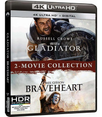 4K UHD - GLADIADOR / CORAZON VALIENTE (2 MOVIE COLLECTION)