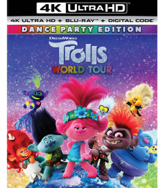 4K UHD - TROLLS WORLD TOUR - USADA CON SLIPCOVER