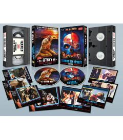 GOMIA, TERROR EN EL MAR EGEO + TERROR SIN LIMITE VHS Retro + 8 Postales