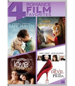 DVD - 4 PELÍCULAS FAVORITAS DE ROMANCE - USADA
